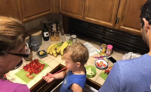 Making Silly Fruit Snakes